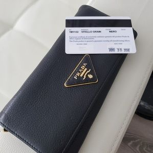 Authentic Prada leather wallet
